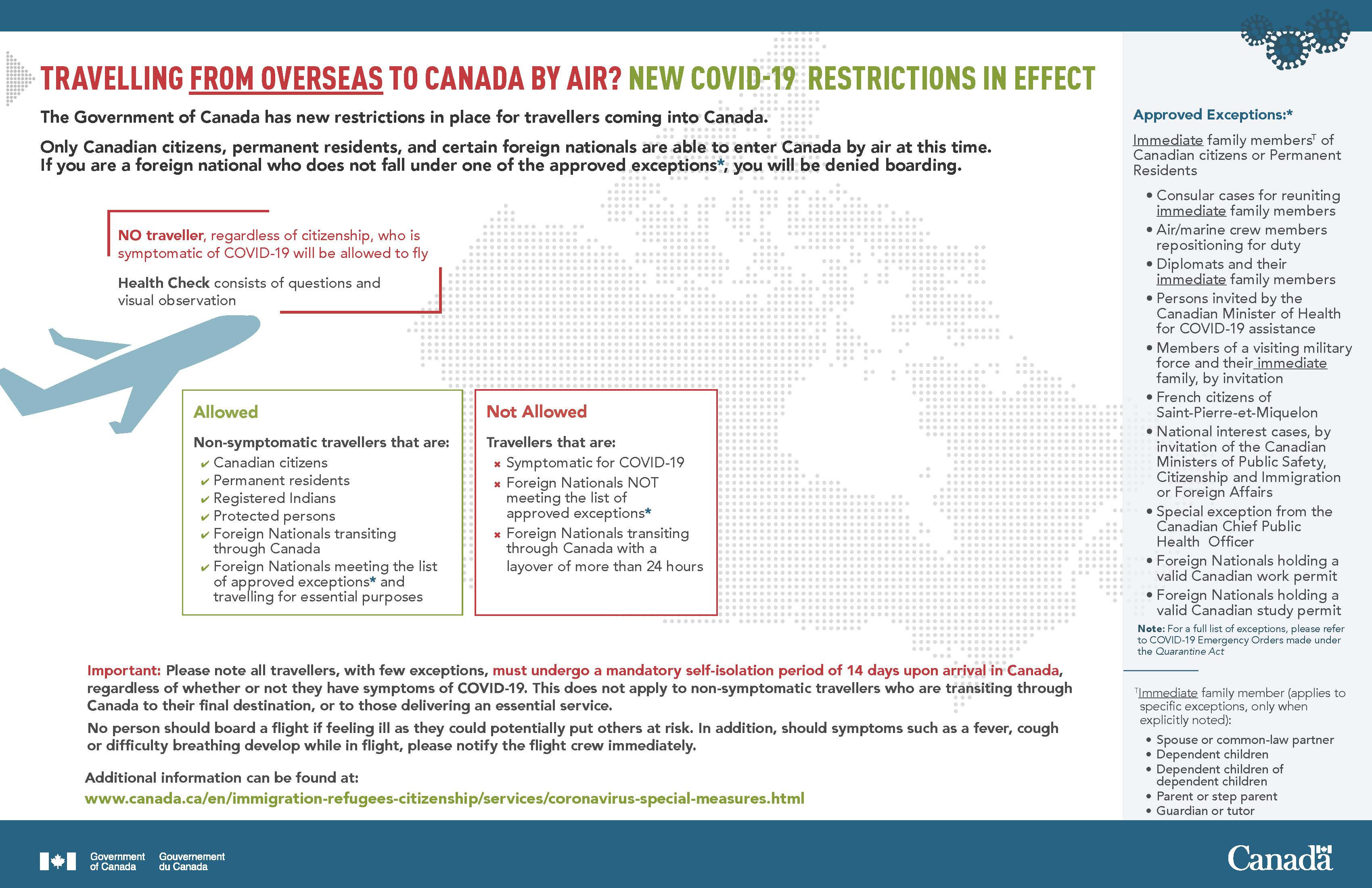TRAVELLING FROM OVERSEAS TO CANADA BY AIR? NEW COVID-19 RESTRICTIONS IN EFFECT